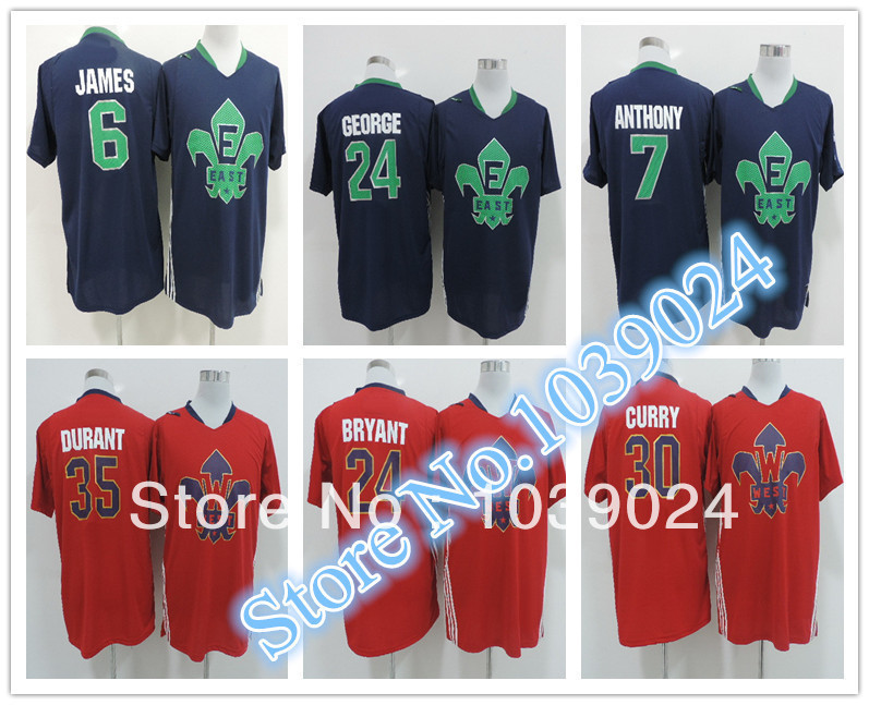 2014 New Orleans LeBron James All Star Jersey Blue Stitched Hot
