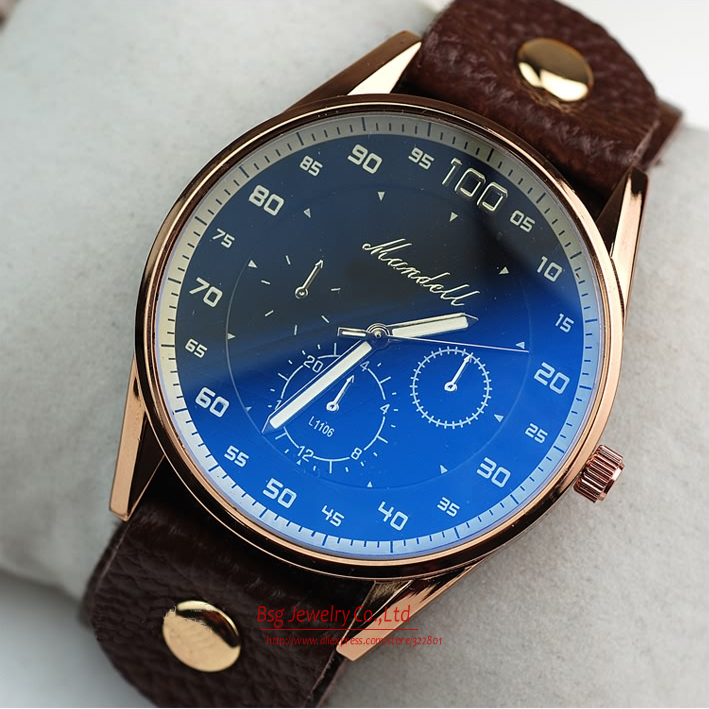 Free shipping Fashion Hours man / men's Quartz Wrist Watches Leather Strap Relogio Masculino Cheap Wholesale support(China (Mainland))