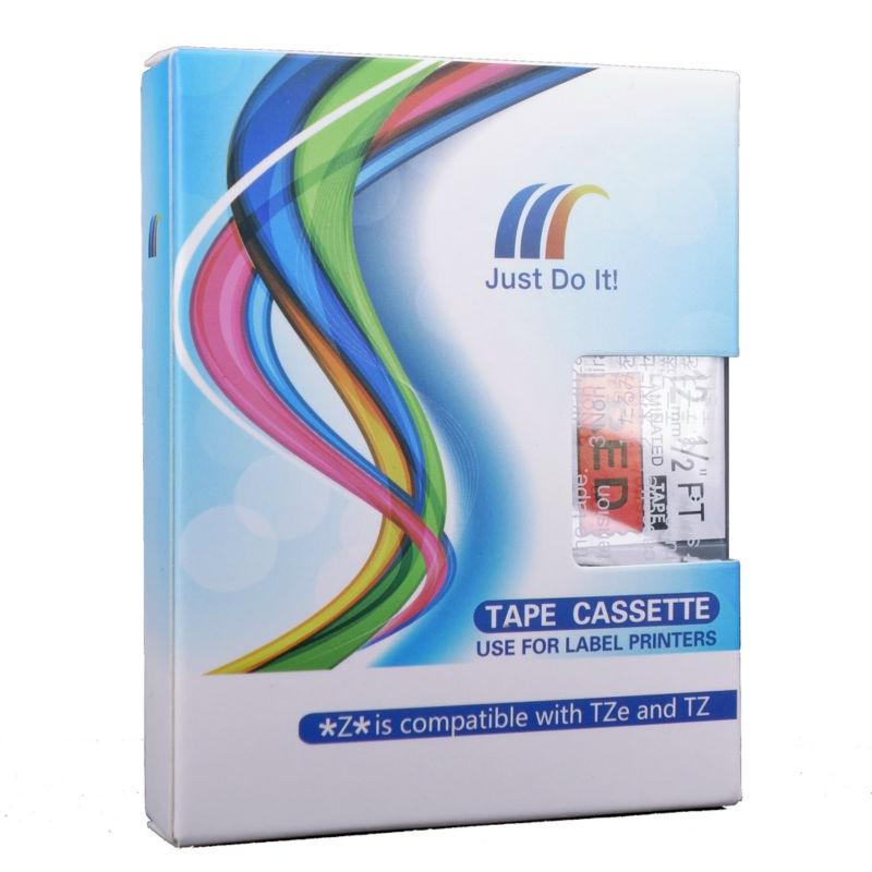 Molshine 8pcs TZe431 Label Tape Compatible for Brother Tze-431 TZ-431 TZ431 Black on Red (0.47 1/2 12mm) 8m<br><br>Aliexpress