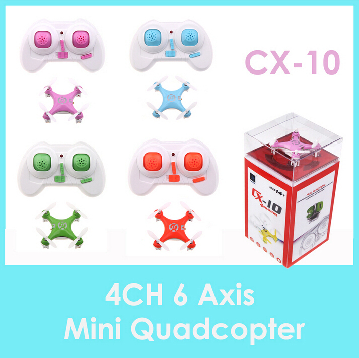 F08601 RC Toy cheerson CX-10 mini drone 2.4G 4CH 6 Axis dron with LED 4 Colors Best Gift for Children Kids(China (Mainland))