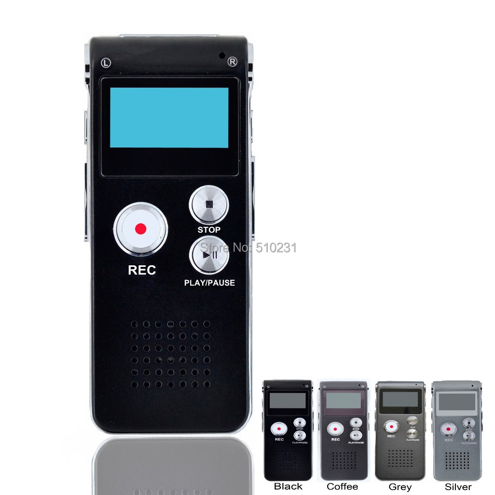Rechargeable 8GB Voice Activated USB Pen Digital Audio Voice Recorder Dictaphone MP3 Player Black Drop shipping With Retail Box(China (Mainland))
