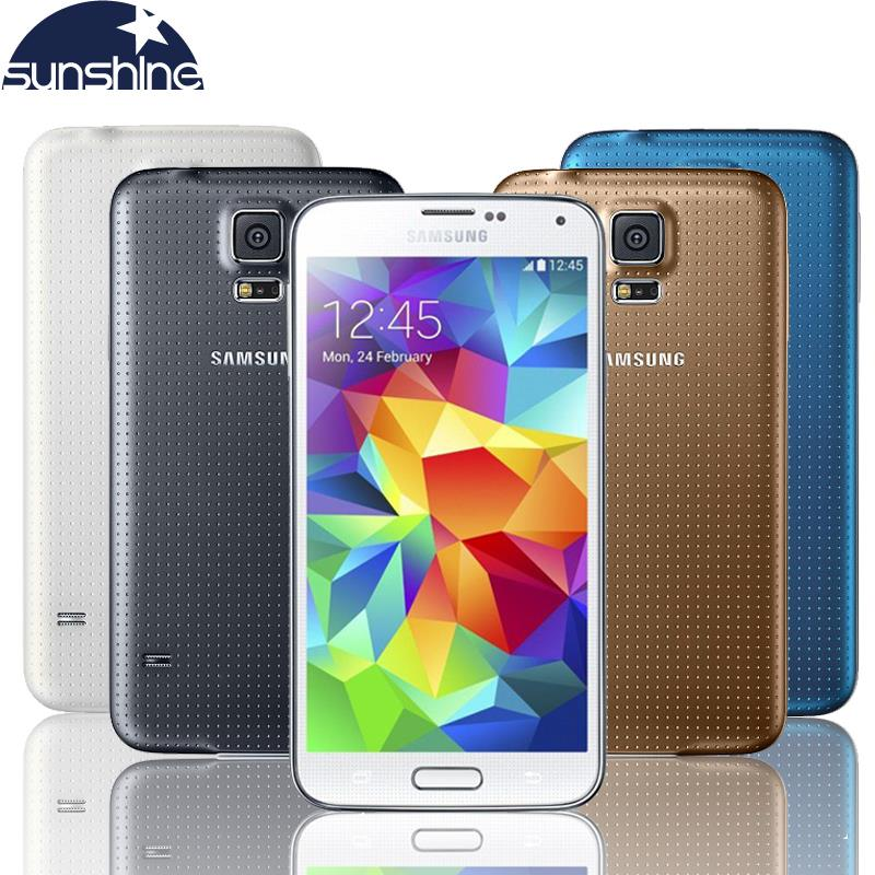 Original Unlocked Samsung Galaxy S5 i9600 Mobile Phone 5 1 Quad Core Refurbished Smartphone 16MP GPS