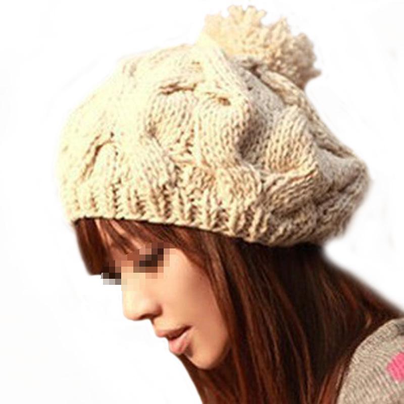 5 Colors 2016 Winter Hats For Women Black Warm Twist Women's Knitted Hats Fashion Beanies Women Winter Caps Women's Hats Winter(China (Mainland))