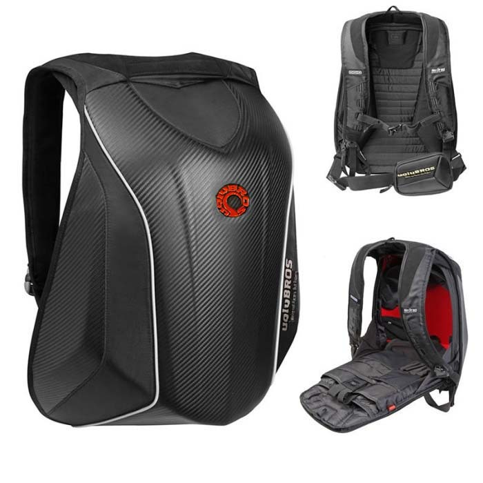 2015 New uglyBROS MACH6 hard shell bag motorcycle riding backpack shoulder bag waterproof laptop knapsack(China (Mainland))