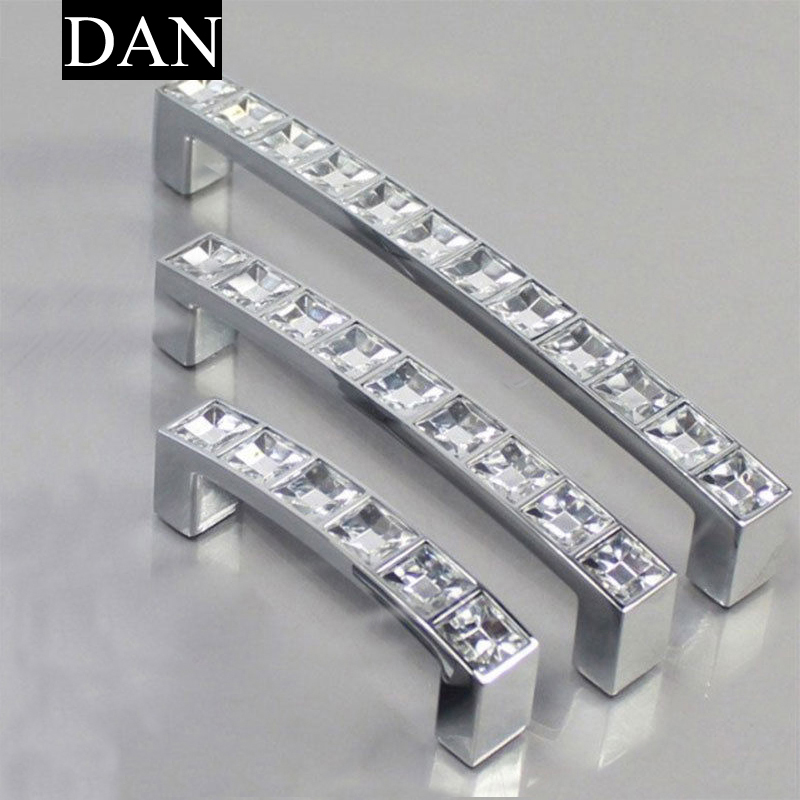 Hot Sale 1 Pieces Modern Diamond Crystal Knob Cabinet Kitchen Wardrobe Cupboard Pull Handle Nice(China (Mainland))
