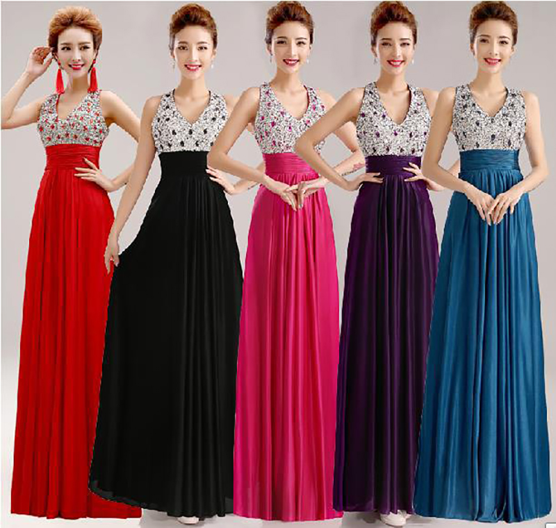 Floor Length Elegant Evening Dress Gown 2016 New Elegant A-line Satin Long Formal Dress Women Wedding Prom Party Dress(China (Mainland))