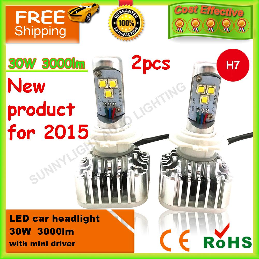 Источник света для авто SUNNYLIGHT 2 x 2015 CREE H1 H4 H7 H8 H11 9005 9005 HB3 HB4