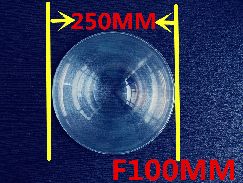Fresnel Lens  Diameter 250mm Focal length 100mm High light condenser  fresnel lens solar DIY hot 2015