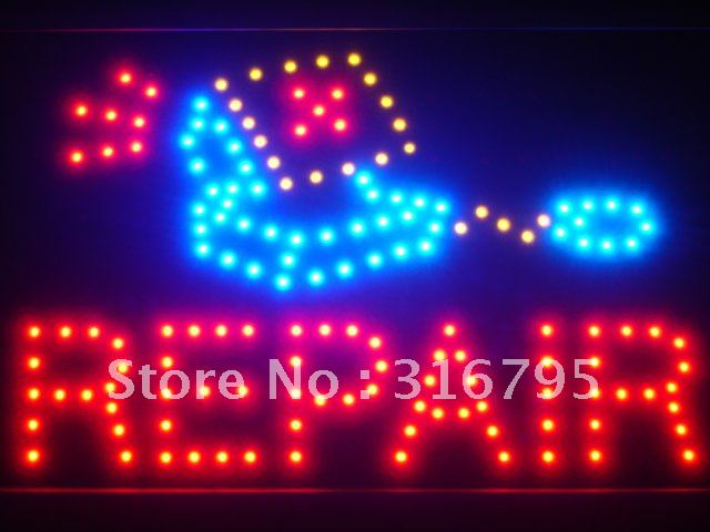 led016-r Computer Repair Services LED Neon Light Sign Wholesale Dropshipping(China (Mainland))