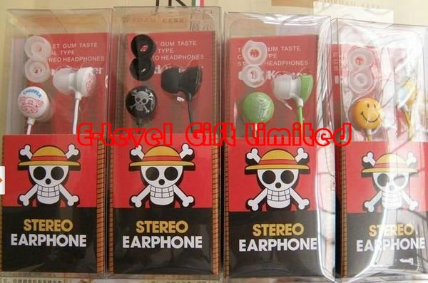 #A0107 Wholesale 34pcs/lot CPAM Free Shipping, Skull Pirate In-ear Earphone, Skull Cartoon Headphone with Retail Box(China (Mainland))