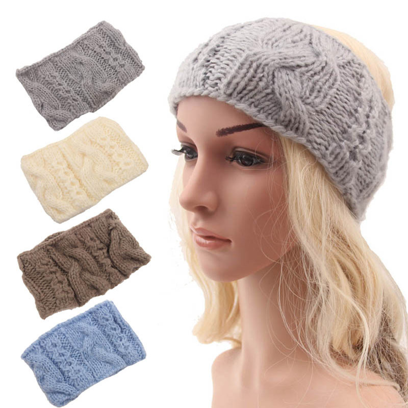 2015 New Winter Headbands Women Fashion Doughnut Solid ...