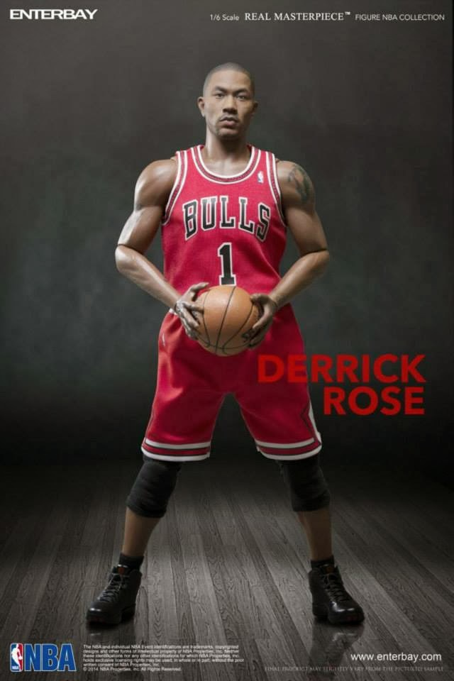 """ENTERBAY NBA1/6 scale Derrick Rose 12"""" Action figure doll, Finished Product figure model toys(China (Mainland))"""