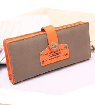 Hot Designer Wallets Famous Brand Women Wallet 2015 Nubuck Leather Womens Vintage Luxury Snap Ladies Wallets and Purses(China (Mainland))