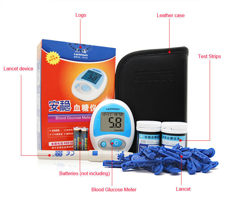 Health Care Sugar Tests Glucometer Blood Glucose Meter + 50pcstest Strips Measurement of Blood Sugar Free Shipping cheap