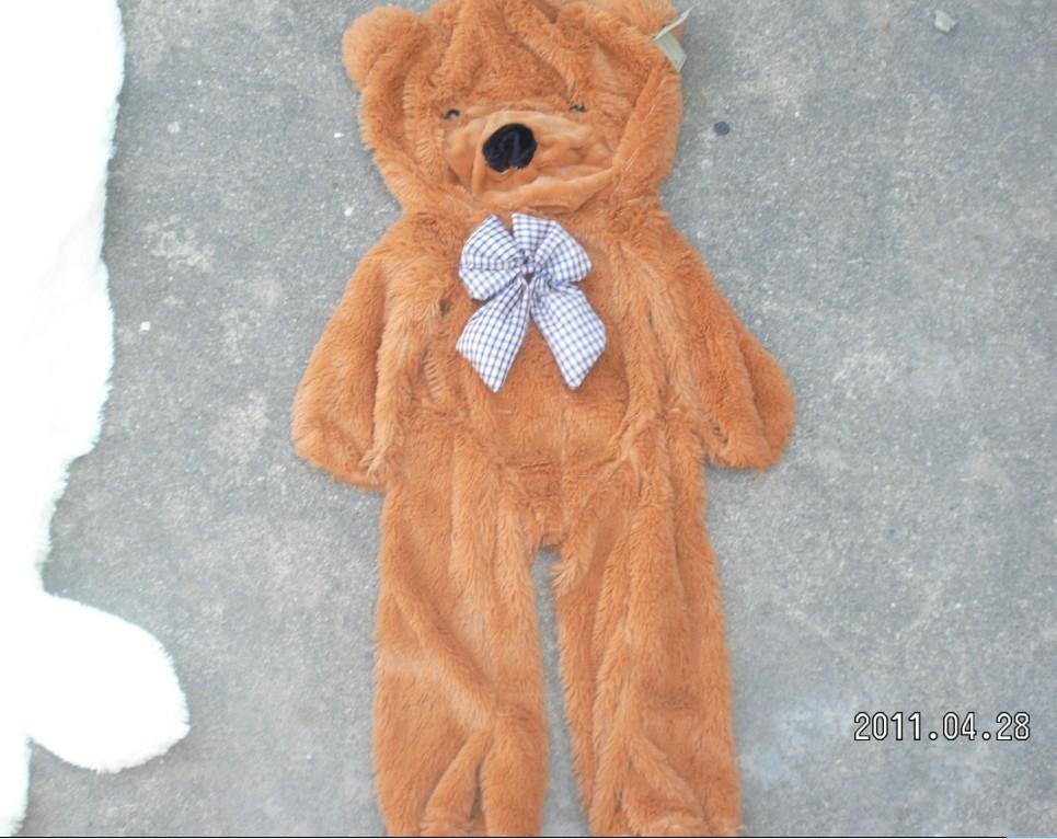 Wholesale Factory price!!! 3colors Empty 160cm teddy bear toys skin Stuffed Animals & Plush Toys coat Free shipping(China (Mainland))