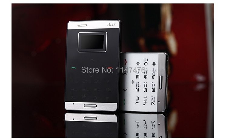 5 pieces free shipping Original AIEK M3 Mini Ultra-thin Pocket Card Mobile Phone MP3 English&Arabic keyboard supported(China (Mainland))
