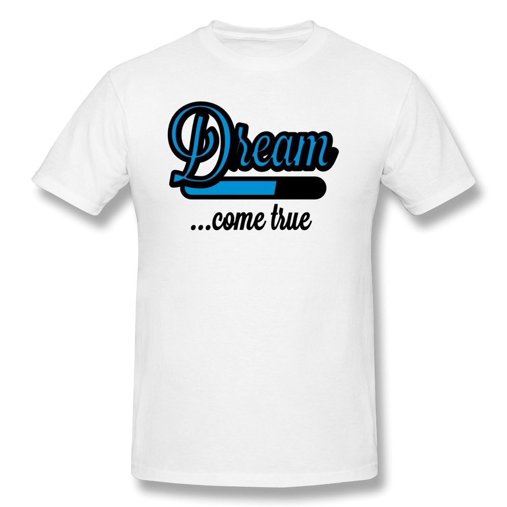 Free Shipping O Neck T Shirt Mens Dream Come True