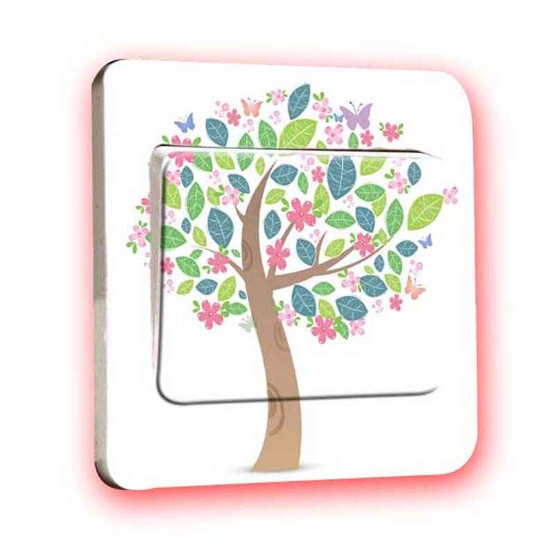 PVC 3D Parlor Bedroom Light Switch Sticker Tree,Landscape, Bird, Butterfly, Lollipop Vinyl Wall Decal For Kids Bedroom Decor(China (Mainland))