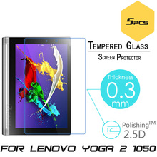 5pcs/lot For Lenovo Yoga Tablet 2 830F 1050F 0.3mm 2.5D HD Tempered Glass Tablet PC Screen Protector Explosion-proof Cover Film