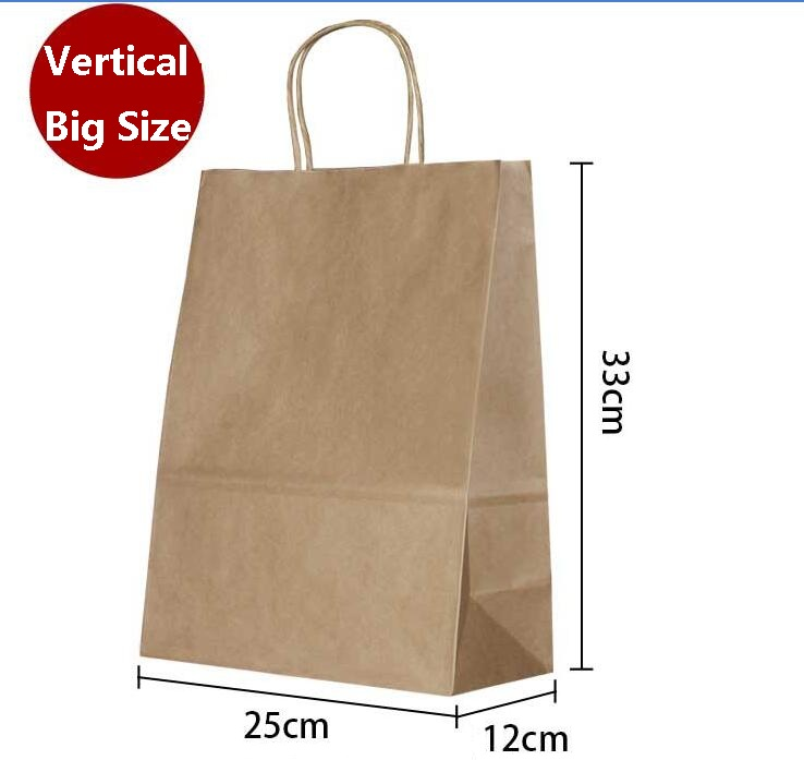 Big size kraft gift paper bag with handle / Vertical / DIY Multifunction wedding party bag / Fashionable cloth paper bags(China (Mainland))