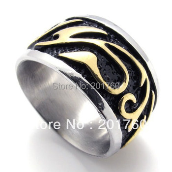 Punk rock accessories Hot Stainless steel Casting classical Vintage ring men punk Band Rings  free  shipping 75416