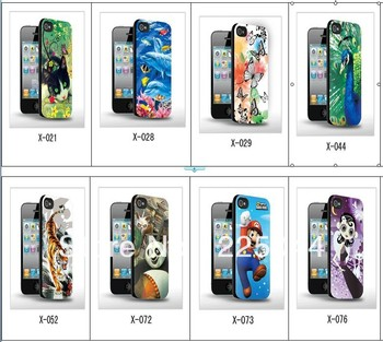 3d Stereoscopic Three-Dimensional cheapest for iPhone 4 4s cell phone case free Shipping 056