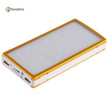 12000mah Portable Solar Power Bank Externa Bateria Dual USB LED External Mobile Phone Battery Charger Powerbank for Xiaomi