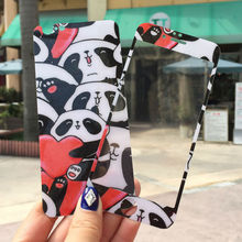 Lovely Cartoon China Panda Hearts Front Back 2.5D Tempered glass Film Screen Protector Skin Sticker Cover for iphone6/6s plus