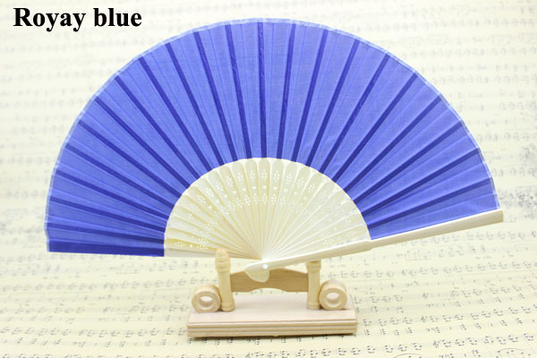 (50 pieces/lot) New solid color wedding fans Advertising and promotional hand fans Different colors available(China (Mainland))
