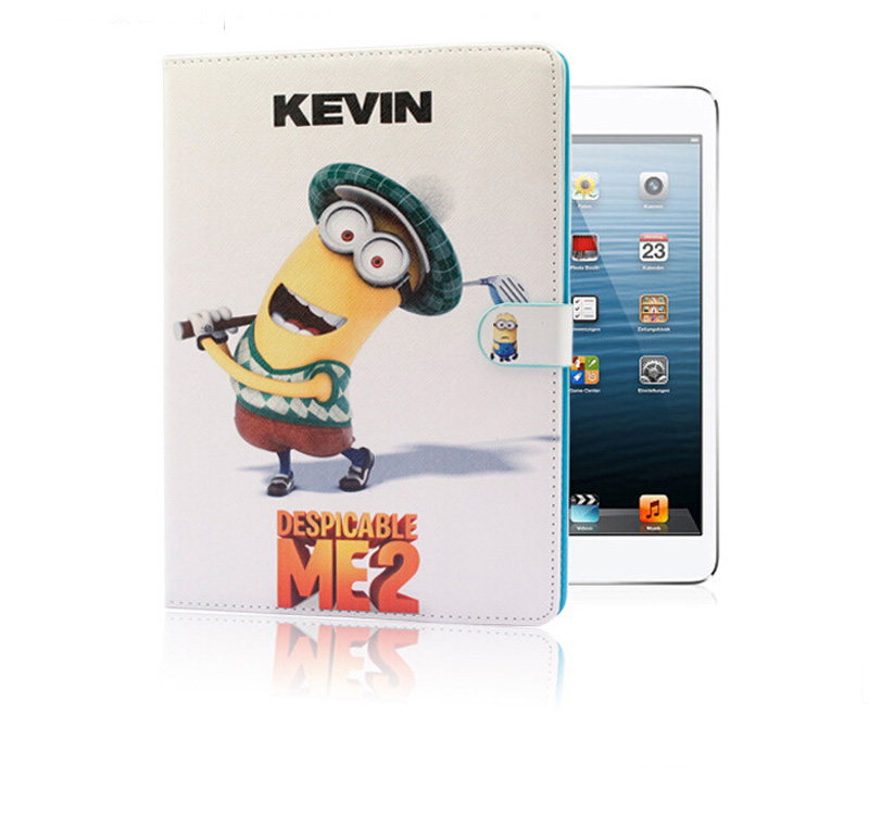 Design Despicable Minions Cartoon Cover Case Stand PU pad 2/3/4 Apple IPC013/QT-IP234-BHT-8  -  53Top store