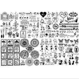4 design mix zakka heat transfer painting film,vintage style patchwork &DIY fabric stickers/patches,freeshipping(China (Mainland))