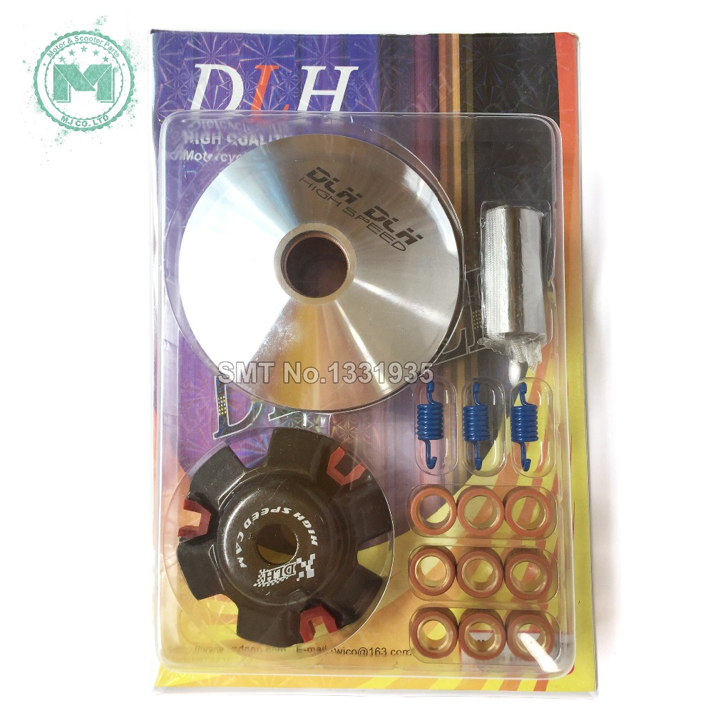 Motorcycle scooter DLH Variator Kit Front Clutch Drive Pulley For font b GY6 b font 125cc