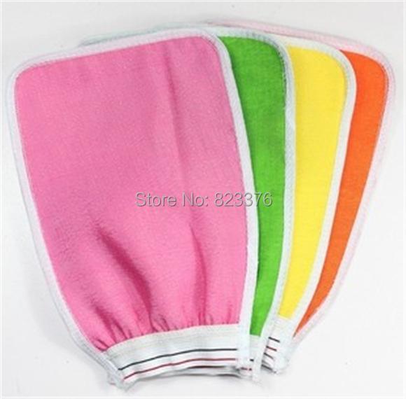 DHL Freeshipping 1000pcs Shower Towel Magic Peeling Glove Exfoliating Bath Glove(China (Mainland))