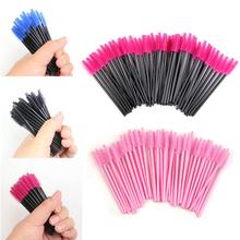 50 pcs/pack One-Off Disposable Eyelash Brush Mascara Applicator Wand Brush Eyelash Comb Brushes Cosmetic Makeup Tool(China (Mainland))