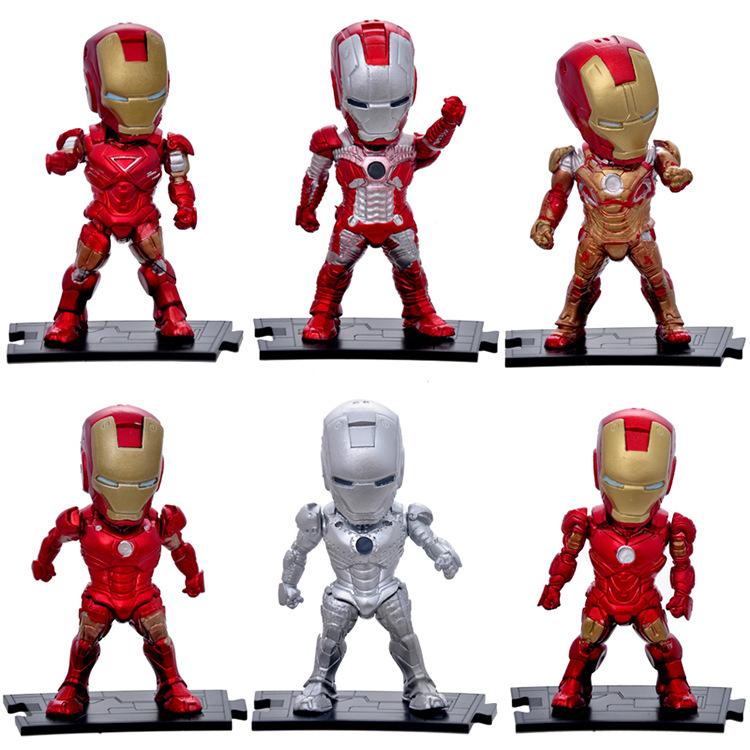 New Attack Iron Man Mark 3 PVC Action Figure Brinquedos Robot Figurine Collection Juguetes Model Kids Toys 6pcs/set(China (Mainland))