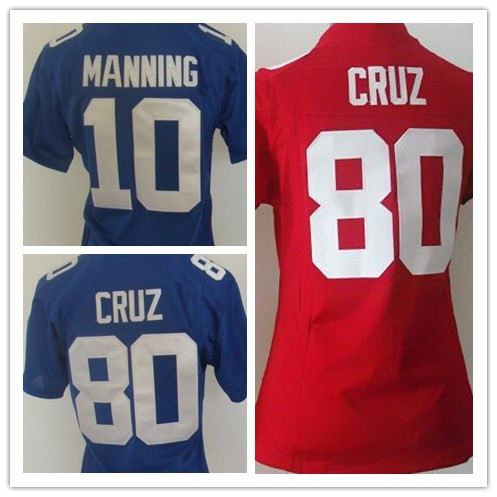 Eli Manning Jerseys 10 Elite Giants Jersey 80 Victor Cruz Women's Football Jersey Best Quality Rugby Jersey Accept Mix Orde(China (Mainland))
