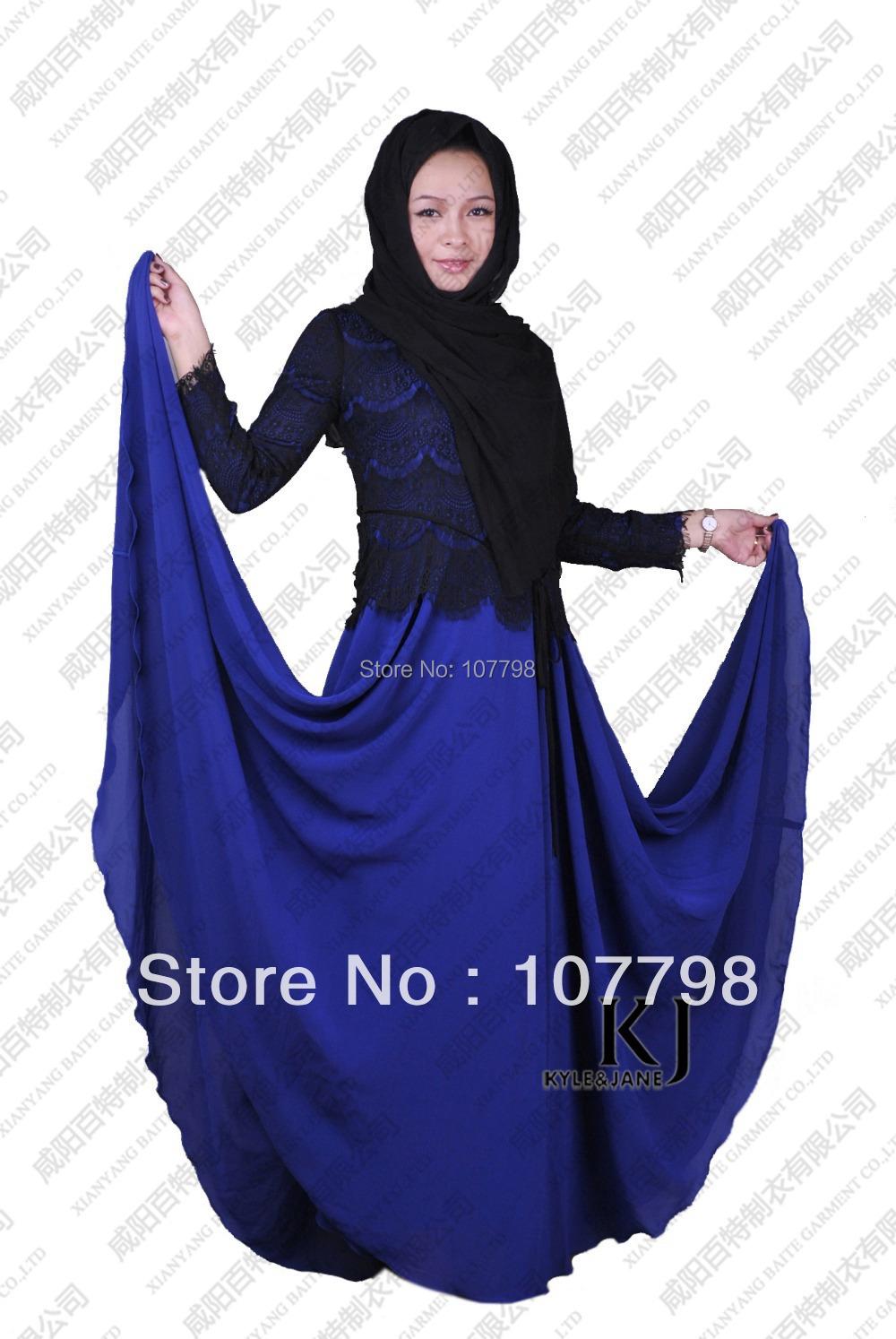 Muslim dress,fancy abaya promotion! ROYAL TIE NEST KOMBIN abaya, jilbab , Evening Dress ,lace+composite silk one piece on sale(China (Mainland))