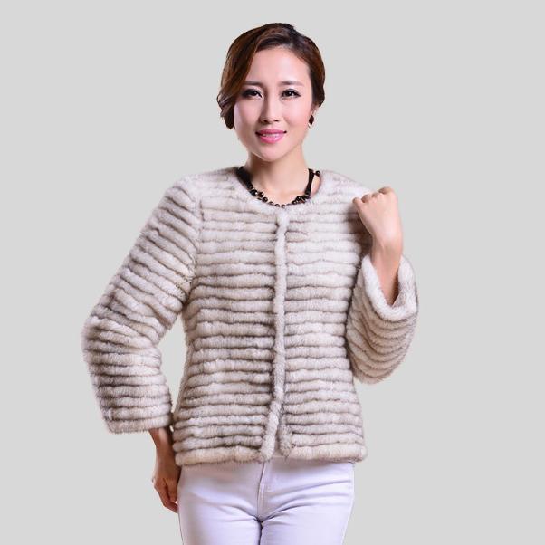 Мех история игрушек 15169 настоящее мех пальто женское зима роскошь трикотаж мех норки женщины в пальто натуральная расцветка полоска блузка женщины