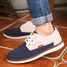 2015 new fashion men shoes casual breathable flats adult male oxfords sneakers 4 color size 39