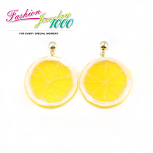 Unique Design Lovely Orange Drop Earring New Trendy Silicone  Fruit Jewelry For Women Free Shipping(China (Mainland))