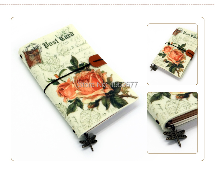 Retro Felt cloth notebook-M.jpg