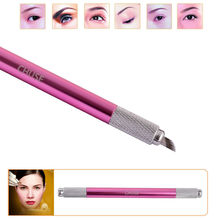 100% Original Famous Brand CHUSE M6 Eyebrow Microblading Manual Pen Permanent Makeup Machine Tattoo Set Both Head Can Be Used(China (Mainland))
