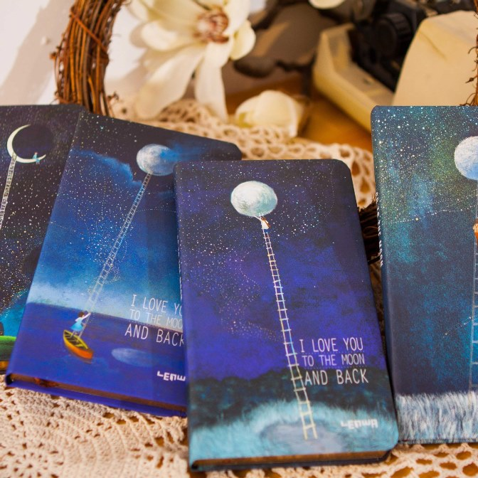 Moon Girl Lined Diary Hard Cover DIY Planner Pocket Journal School Study Notebook Korean Agenda Notepad Memo Gift<br><br>Aliexpress