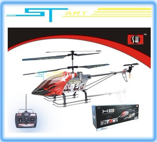 2 pcs/lot Swift SH 65 cm 8827 RC Helicopter RTF remote control 2.4G 3CH metal main body helicopter rc toys low shipping hobbies(China (Mainland))
