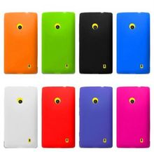 Colorful Cover Phone Bag For Nokia,Frosted Colorful Luxury Rubber Matte Hard Back Case For Nokia Lumia 521 N521 Case Wholesale(China (Mainland))
