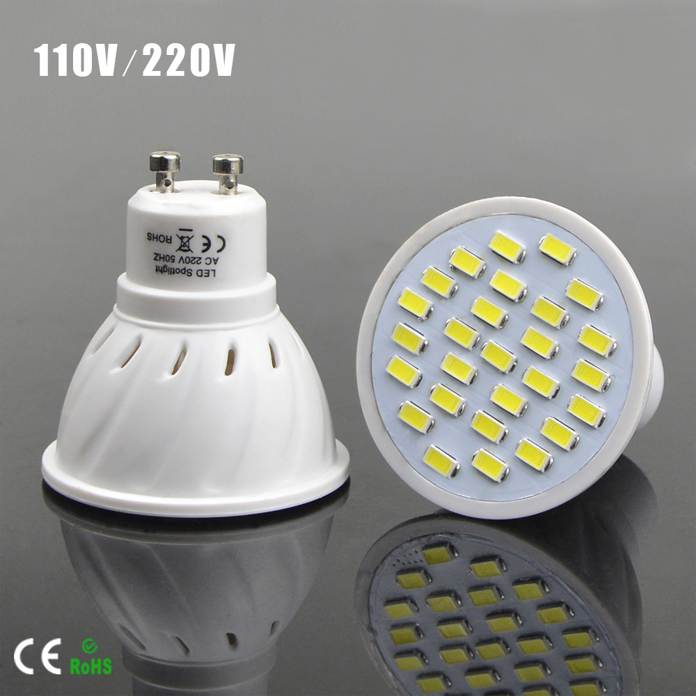 Top quality GU10 5730 Bombillas LED Lamp 220V 110V 7W Spotlight linternas Lighting Lumen Higher than Incandescent Bulbs Lampada(China (Mainland))