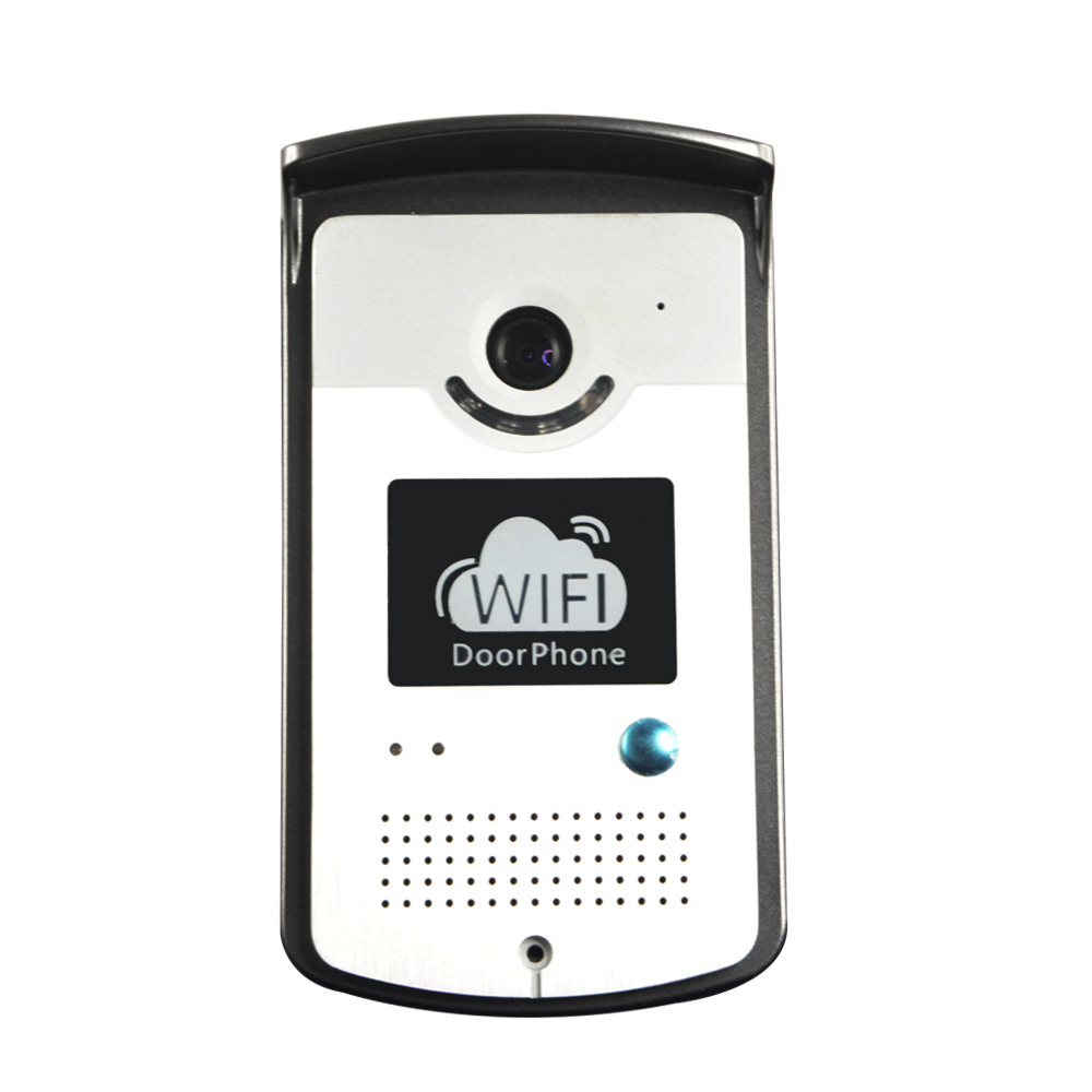 Free shipping!!! WIFI IP video door phone door intercom doorbell with two way voice, mobile apps and motion detection(China (Mainland))