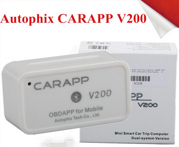 Autophix CARAPP V200 mobil Mini cerdas Code Reader Mini Smart Car Trip Computer Dual system Version for mobile(China (Mainland))