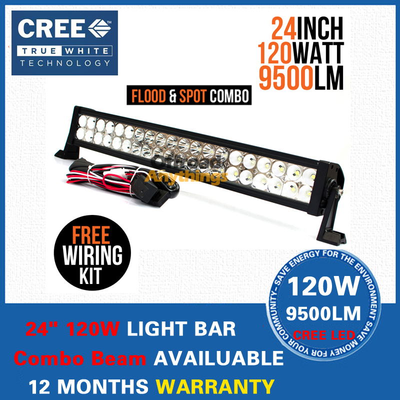 24 inch 120W Cree LED Light Bar 12V Combo Beam Driving Offroad ATV 4x4 Truck Boat Tractor Marine IP67 - Auto Lamp Store store