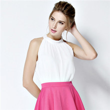 Women tops fashion 2015 Summer style New Brand ladies Tank Tops High quality Sleeveless Chiffon Vest envio gratis vestidos(China (Mainland))